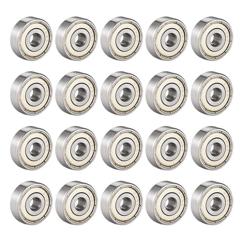 636ZZ Deep Groove Ball Bearing Double Shield 6mm x 22mm x 7mm Bearing Steel Bearings (Pack of 20)