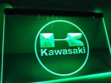 LG135- Kawasaki Racing Motorcylce Bar letrero de neón con luz LED casa manualidades decorativas