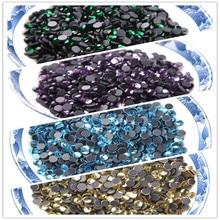 SS6 (1.9-2.0mm) DMC Hot Fix Steentjes Crystal AB/Clear Multi kleuren Glas Crystal Plaksteen Hotfix Steentjes Voor Trouwjurk