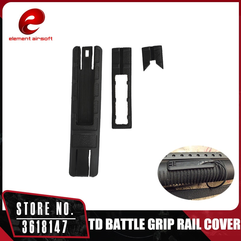 Element airsoft TD batalla agarre tapa carril con bolsillo para rieles de 20mm SMSR? Interruptor de luz titular MP02011
