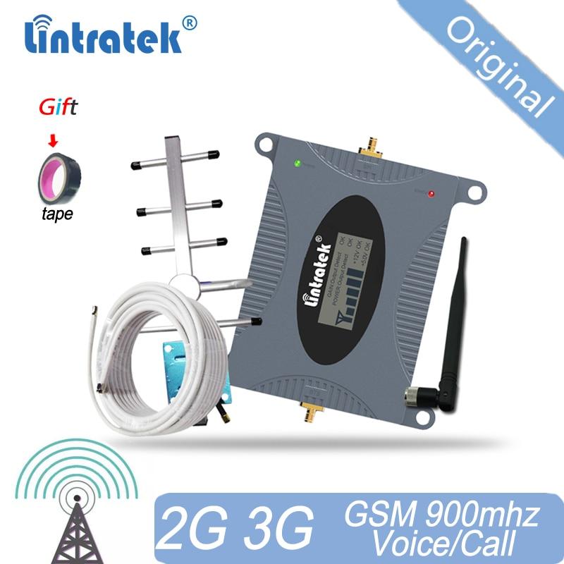 Lintratek-Amplificador DE señal 2G GSM, repetidor móvil de 900mhz, 65dB, Amplificador de...
