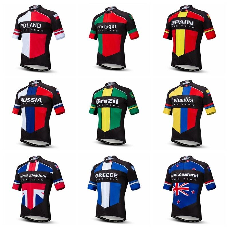 Jersey para Ciclismo al aire libre 2020, Jersey para Ciclismo para hombres, Top ee.uu., Reino Unido, Rusia, Portugal, España, Brasil, Grecia, MTB, Maillot para bicicleta juvenil, Ciclismo