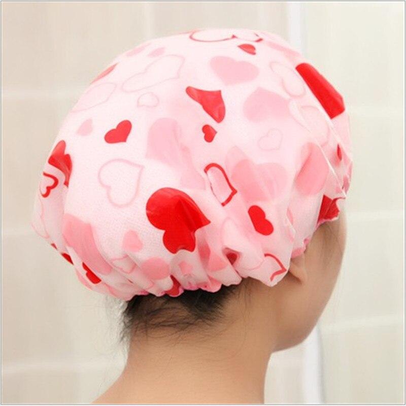 Creativo lindo chico grueso impermeable impresión de la ducha tapones elásticos del champú para el pelo del chico baño Spa salón champú gorros para niños