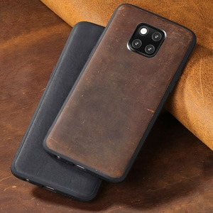 Cowhide Phone Case For Huawei Mate 9 10 20 Pro P10 P20 P30 lite Crazy Horse skin Back Cover For Honor 8X 9 10 case