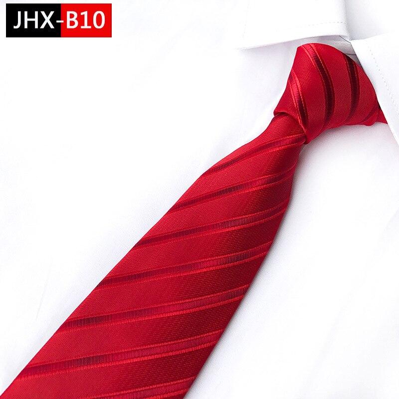 Классический красный галстук для мужчин, удобный шелковый галстук на ощупь, подарок на день рождения, свадьбу