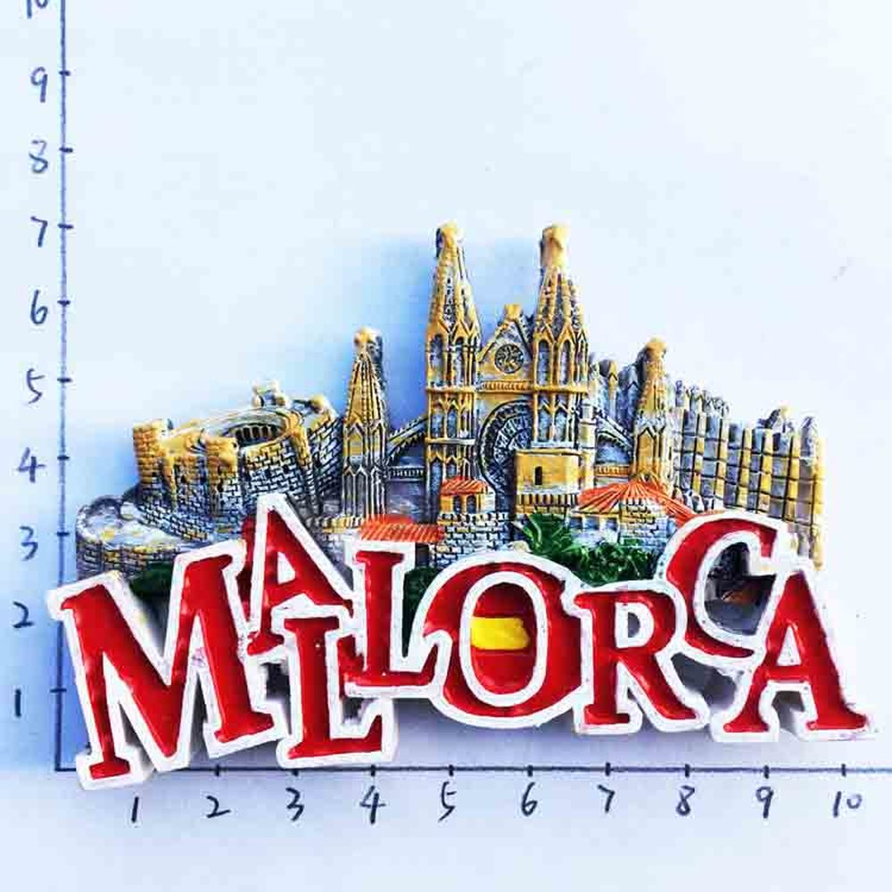 BABELEMI 3D Majorca Spain Cathedral de Mallorca Fridge Magnet Travel Souvenirs Refrigerator Magnetic Stickers Home Decoration