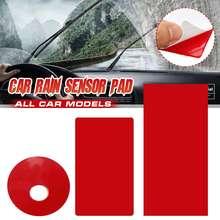 Autocollants essuie-glace en Film sensible Rectangle   Autocollant avant de voiture, pare-brise fenêtre, capteur de pluie, Gel pour BMW pour BENZ