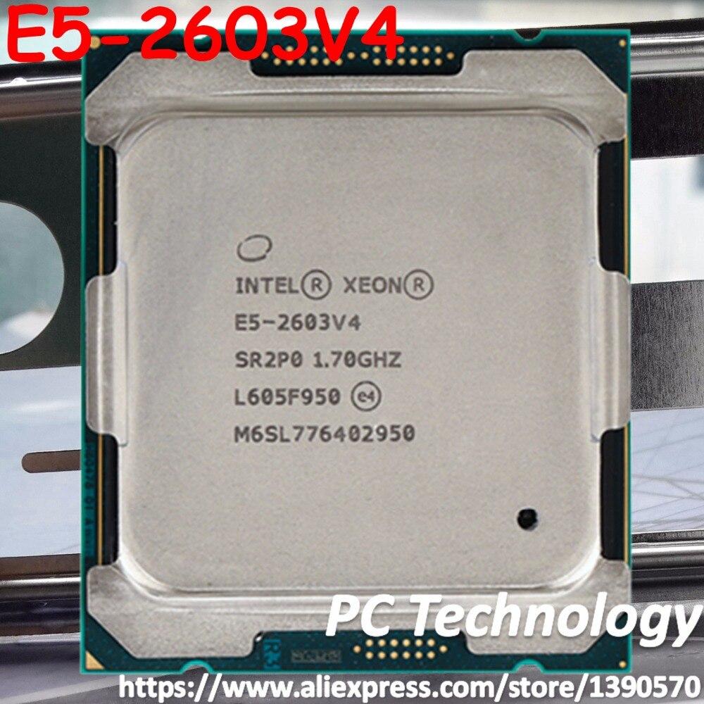 Оригинальный процессор Intel Xeon E5 2603V4, 1,70 ГГц, 6 ядер, 15 Мб, SmartCache E5 2603, V4, E5-2603V4, TPD 85 Вт, FCLGA2011-3, V4, бесплатная доставка