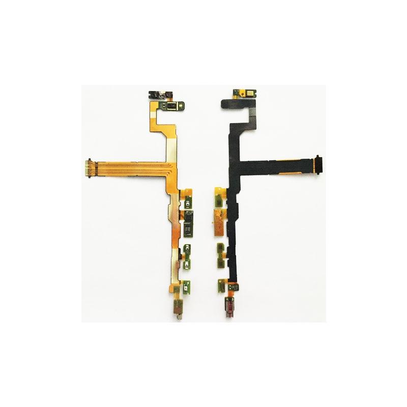 10 unids/lote, interruptor de encendido del micrófono, botón de encendido y apagado, vibrador, Cable flexible del Motor para Sony Xperia Z5 Compact Mini