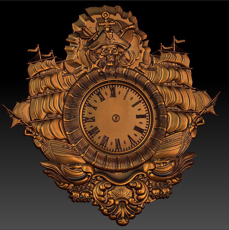 Digitale datei in STL format uhr für CNC 3D relief carving gravur C36-27