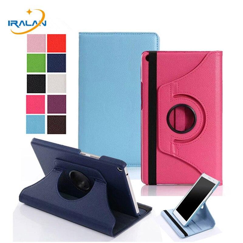 360 giratoria de la PU cubierta de cuero para Huawei MediaPad T3 8,0 KOB-L09 KOB-W09 Tablet plegable caso DE Honor Juego de 2 8,0 + película + pen
