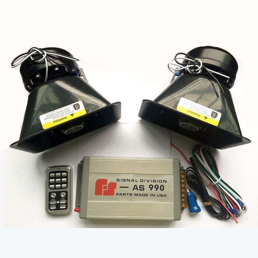 Estilo de coche 400W sirena de policía bocina electrónica alarma de coche sirena plata 990 anfitrión + altavoz gordo de plástico 18 tonos altavoz inalámbrico