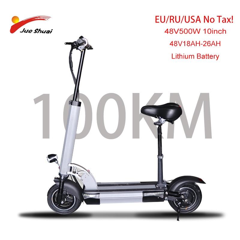 Patinete eléctrico para Adulto, Scooter plegable de 48V, 500w, larga distancia, 100km,...