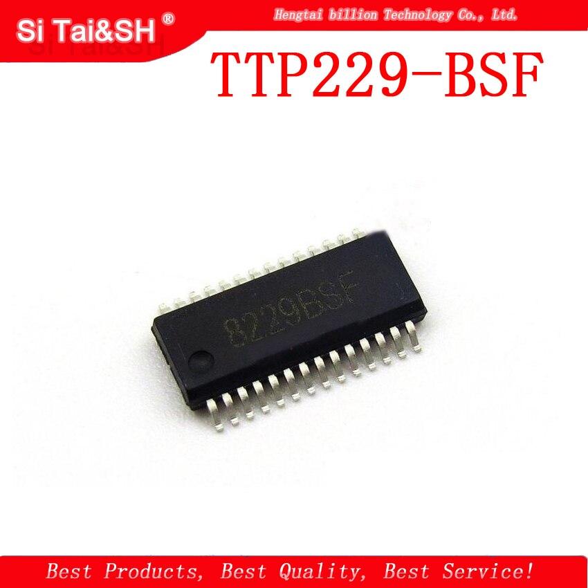 2 uds TTP229-BSF SSOP28 TTP229 SSOP 8229BSF SOP 16-clave botón táctil capacitiva chip sensor