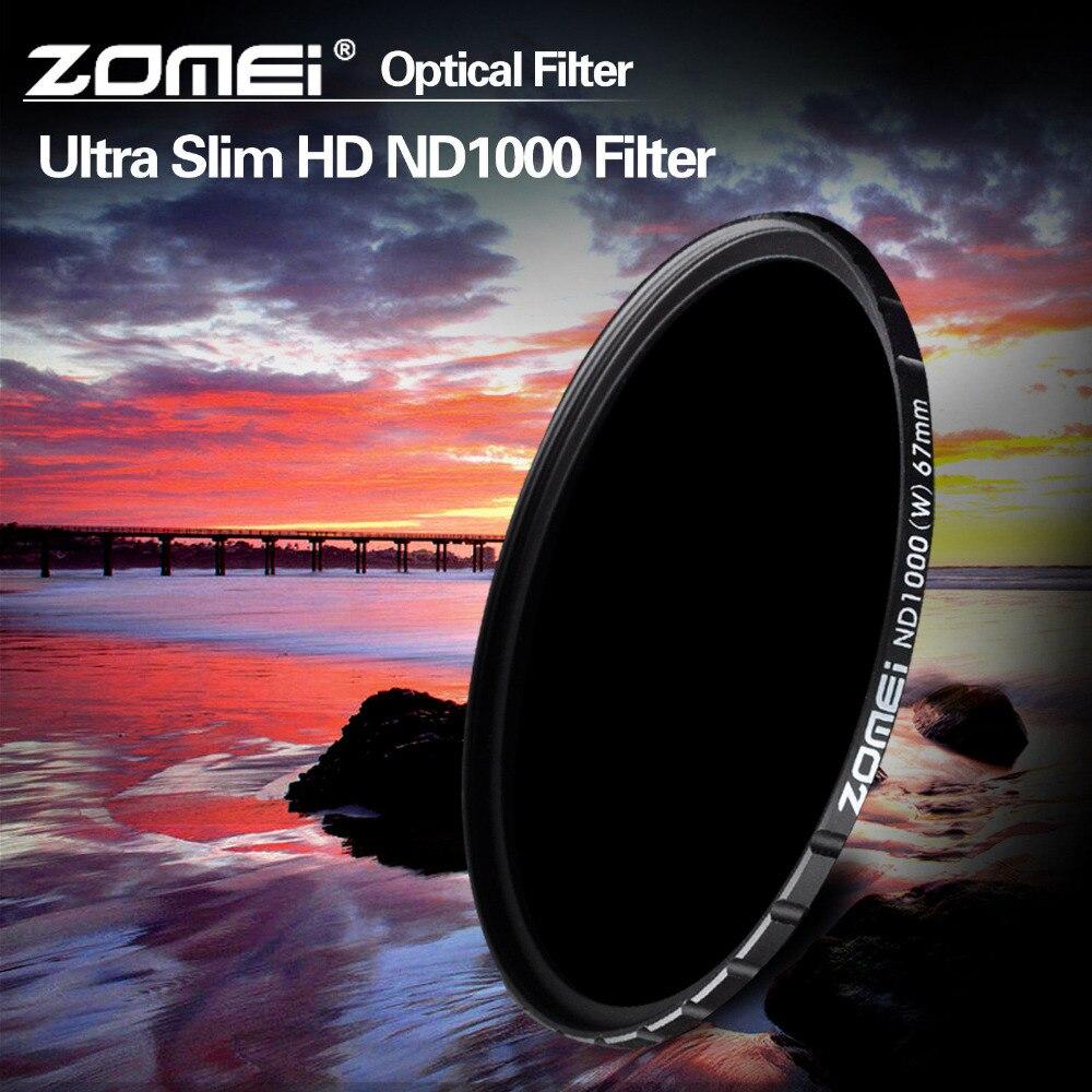 ZOMEI الزجاج البصري 10 وقفة 52/58/67/72/77/82 مللي متر الترا سليم HD متعددة المغلفة محايد الكثافة ND1000 مرشح لل SLR DSLR كاميرا