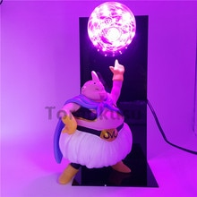 Dragon Ball Z Majin Buu Super Saiyan figurka światła Led anime Dragon Ball Z figurka kolekcjonerska Model zabawki lampa stołowa