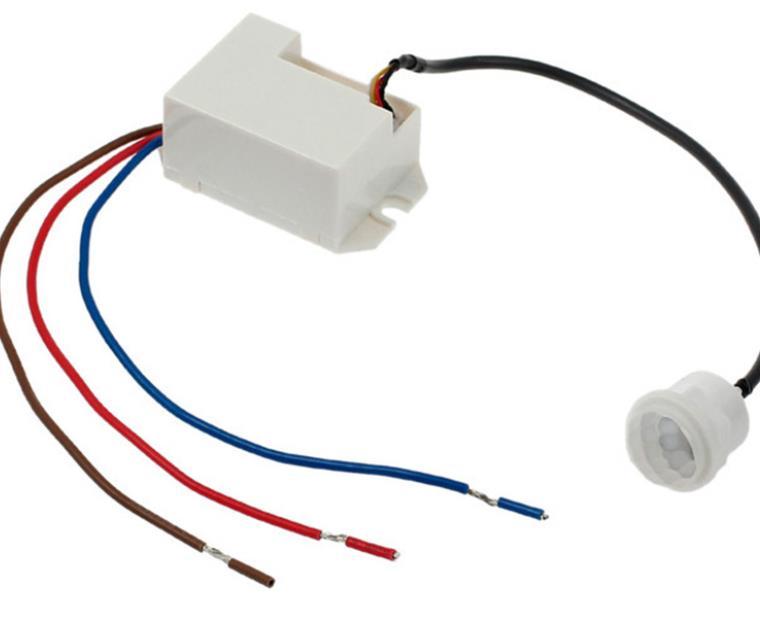 Capteur de mouvement et relais électrique   3 fils avec un relais électrique IR capteur de mouvement Body, interrupteur de commande de lampe lumineuse automatique 220 240V