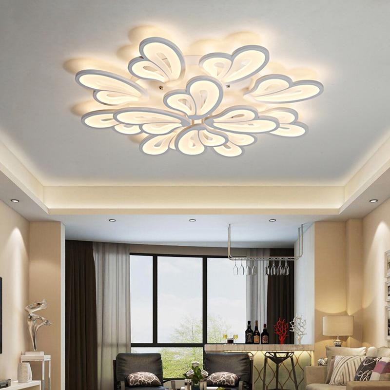 Современный светодиодный люстра освещение потолочные люстры блеск для Гостиная Спальня кухня домашние деко дом светильники светодиодные ...