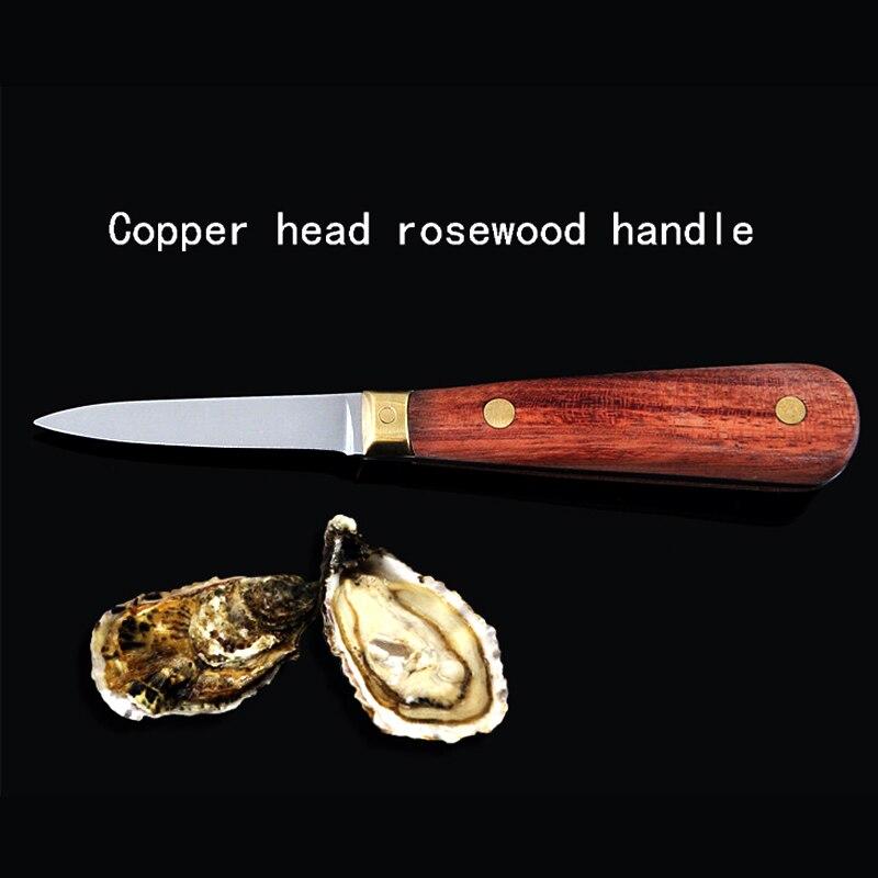 1 Uds cuchillo de ostra de acero inoxidable, cuchillo de cocina, herramienta de mariscos, cuchillos para conchas crudas, herramienta de apertura de mariscos con mango de madera
