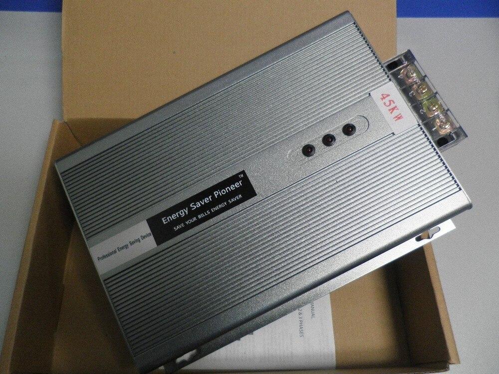 Envío gratis 3 Ahorro Energía fase 45KW caja de ahorro de energía ahorro de electricidad reductor de energía