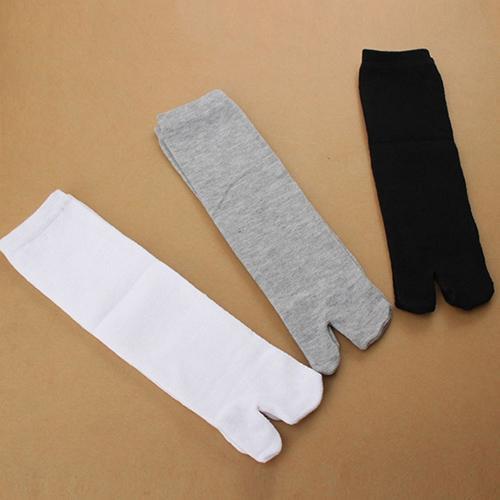 1 par Unisex Kimono japonés Flip Flop sandalias de dedo Tabi Ninja Geta Calcetines