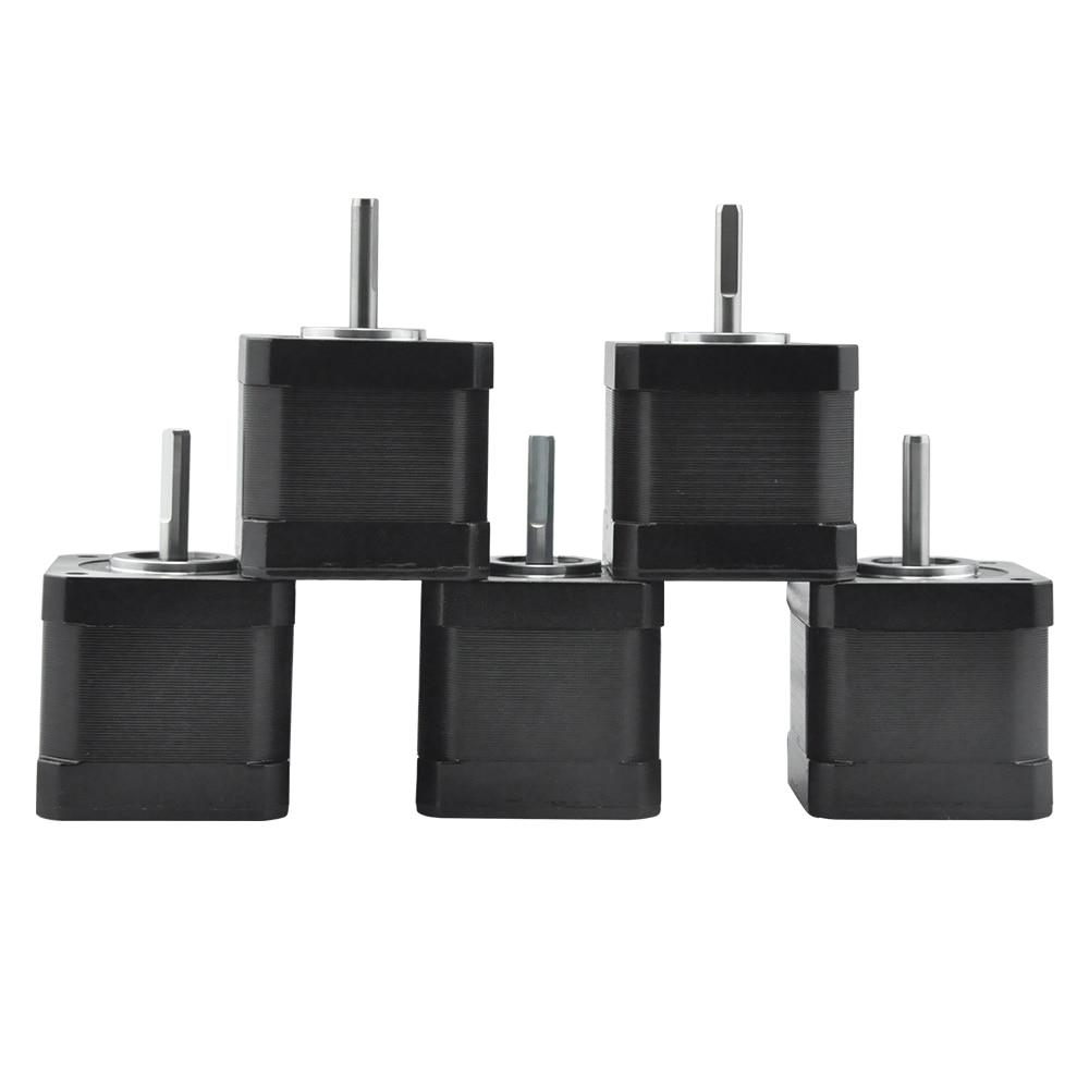 RtelligentNema17 0.71N.M 5PCS Stepper Motor 42CM08 Step Motor Nema 17 1.8A for 3D Printer CNC XYZ