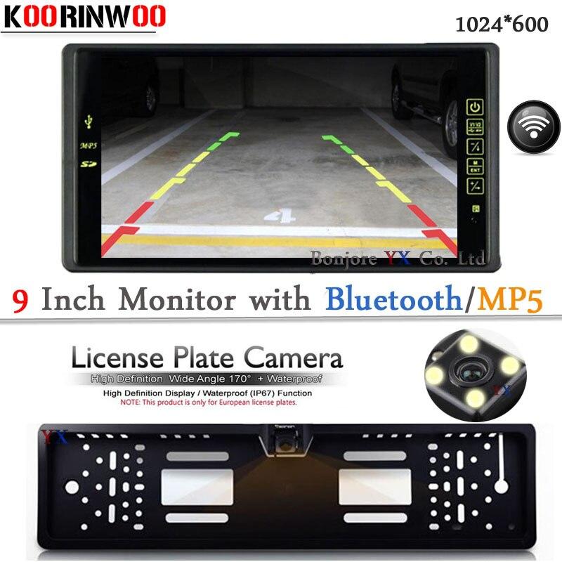Cámara de Vista trasera de coche inalámbrica con Monitor de coche Bluetooth MP5/MP4 FM Media USB ranura SD Video RCA accesorios de estacionamiento multimedia