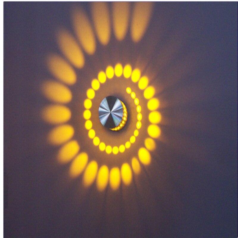 Lámpara de pared Led 3W AC 85-265V creativo Led luz nocturna KTV Bar Disco gabinete decoración vacaciones iluminación interior