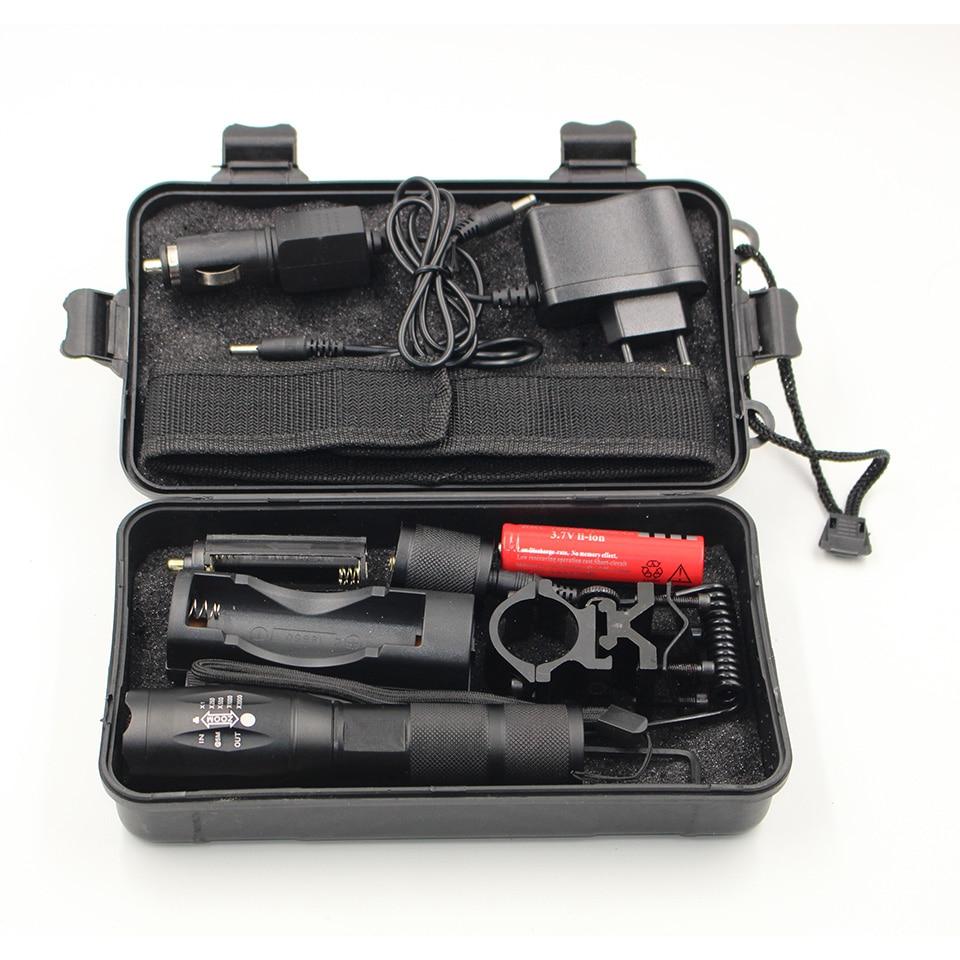 Litwod Z50 CREE XM-L T6 светодиодный тактический фонарь для вспышки 5000Lm масштабируемый фонарь для охоты светильник + аккумулятор + пульт дистанционно...
