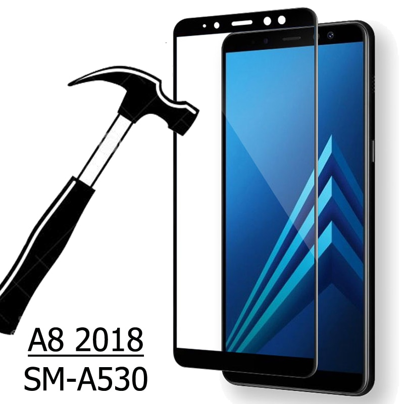 3D vidrio templado para Samsung Galaxy A8 2018 cubierta completa 9H película protectora funda para pantalla frontal Protector para SM-A530 A530F