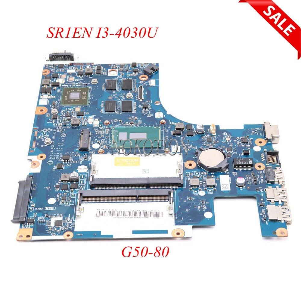 Nokotion aclu3 aclu4 NM-A361 placa mãe do portátil para lenovo ideapad G50-80 r5 m330 ddr3l sr1en I3-4030U placa principal trabalho completo