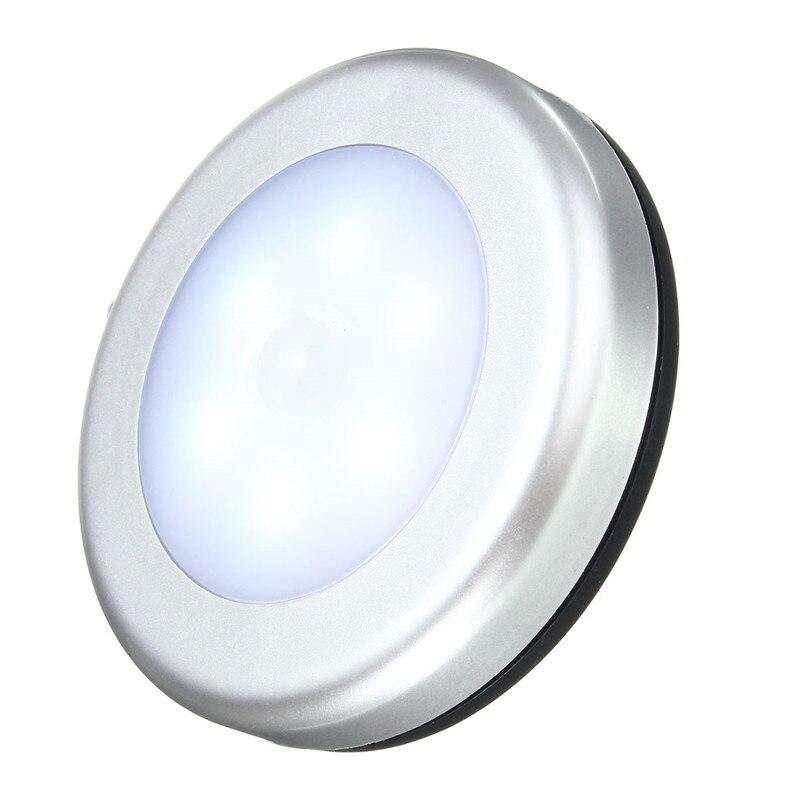 Jiguoor conduziu a luz da noite iluminação interior moda 6led sem fio pir sensor de movimento luz armário roupeiro lâmpada parede alimentado por bateria