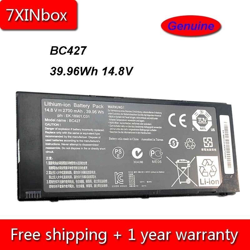 7XINbox 39.96Wh 2700mAh 14,8 V de BC427 batería para portátil MSI Olivetti OliBook S1350 EK.18901.C01 EK.18901.C04 serie
