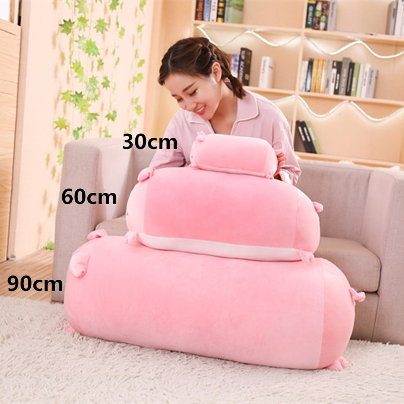 Hot 2019 New Soft Animal Cartoon Pillow Cushion Cute Fat Dog Cat Totoro Penguin Pig Plush Toy Stuffed Lovely kids Birthday Gift  - buy with discount