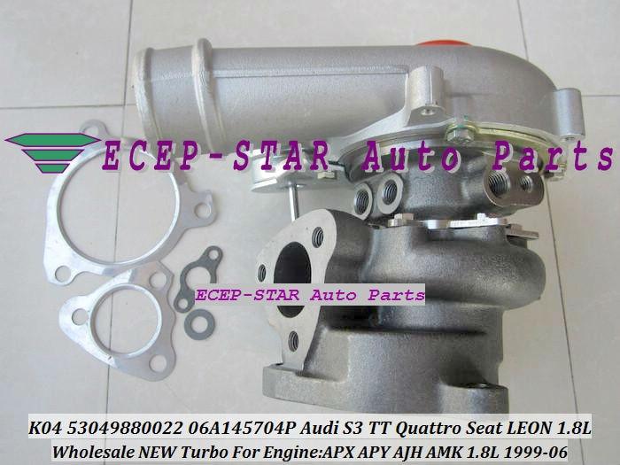 Envío Gratis K04 53049880022 53049700022 06A145704P 06A145704M Turbo turbocompresor para Audi S3 Qua-tro 1,8 T 210HP TT AII AJH 99-06 225HP