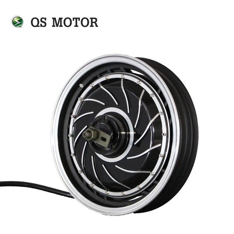 Motor QS de 14 pulgadas, 4000W, 273, 40H, V2, sin escobillas, DC, escúter eléctrico, Motor de cubo de motocicleta para QS, Motor de cubo de rueda eléctrica