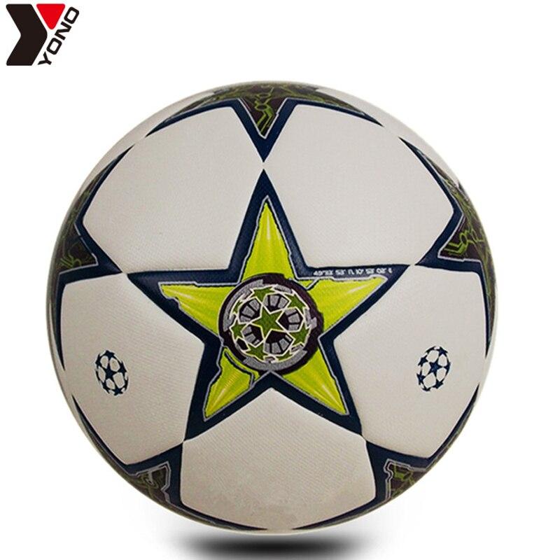 YONO футбольные мячи, размер 5, износостойкие гранулы, профессиональные футбольные мячи для тренировок, футбольные мячи