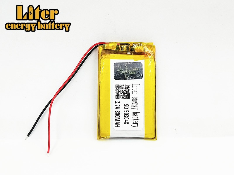 3,7 V 800mAh 503048 polímero de iones de litio/Li-ion batería recargable con PCB para dvr MP3 MP4 GPS DVD Altavoz Bluetooth de juguete