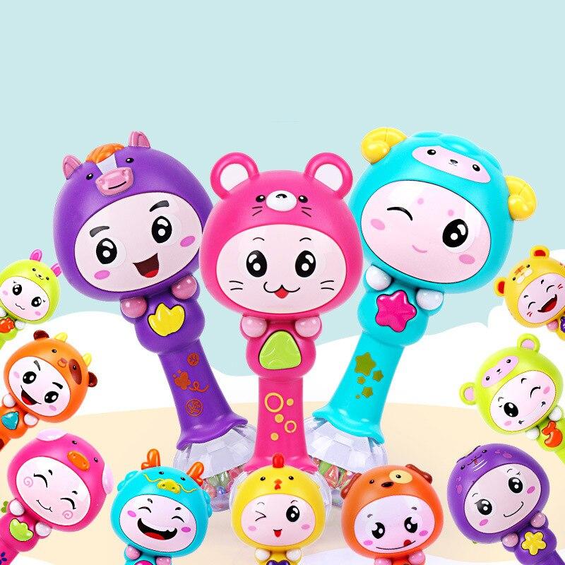 Sonajeros musicales Para bebés de 0 a 12 meses, juguetes educativos de dibujos animados Para bebés recién nacidos, juguetes Para bebés