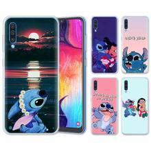 Cartoon Lilo Stich Silikon Fällen für Samsung Galaxy A71 A51 A90 5G A10 A30 A40 A50 A70 A6 A7 a8 + A9 M30 M50 Weiche Telefon Fällen