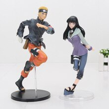 2pcs/set Anime Naruto Shippuden Uzumaki Naruto Hyuuga Hinata PVC Action Figure Collection Model Toy 19-24cm