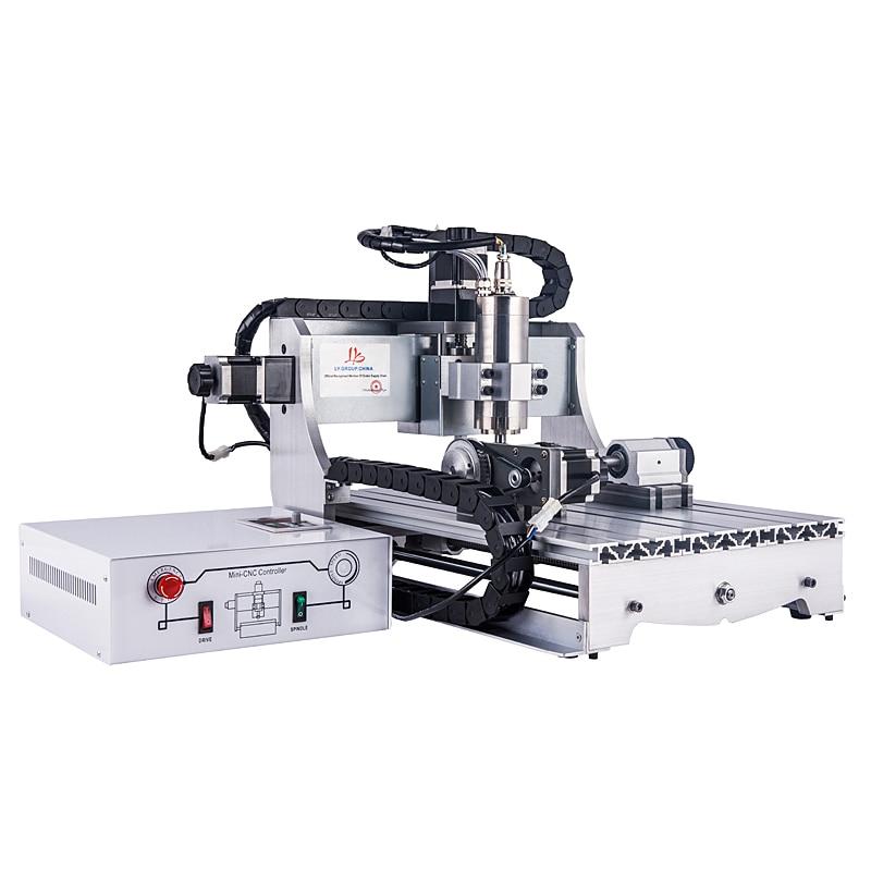 LY 2200W 4 ejes cnc enrutador 3040 para máquina de grabado de vidrio de madera de metal