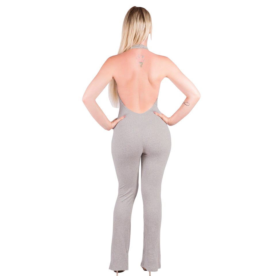 Kobiet Nowej Mody Pajacyki I Kombinezony Kobiety Sexy Backless Rękawów Kombinezony Playsuit Body Eleganckie Dzianiny 16