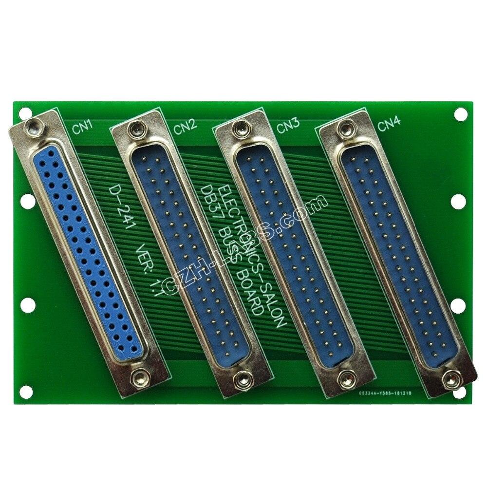 Electrónica-Salón de montaje en Panel DB37 1 mujer 3 hombre Buss de DB-37 Busboard... módulo de placa de Bus d-sub.