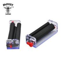 Hornet-máquina de liar cigarrillos ajustable y transparente, para tabaco Rodillo de plástico, rodillo de mano para papel rodante de 70MM