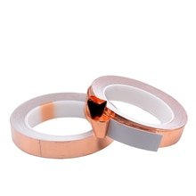 Bande adhésive EMI résistante à la chaleur   1 pièce, bande adhésive en feuille de cuivre conducteur simple côté 20 M résistant à la chaleur, largeur de bande 4 5 6 8 10 12 15 20 MM