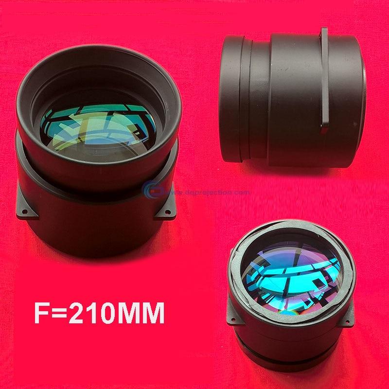 DIY проектор фокусное расстояние объектива Длина f = 210 мм светодиодный объектив