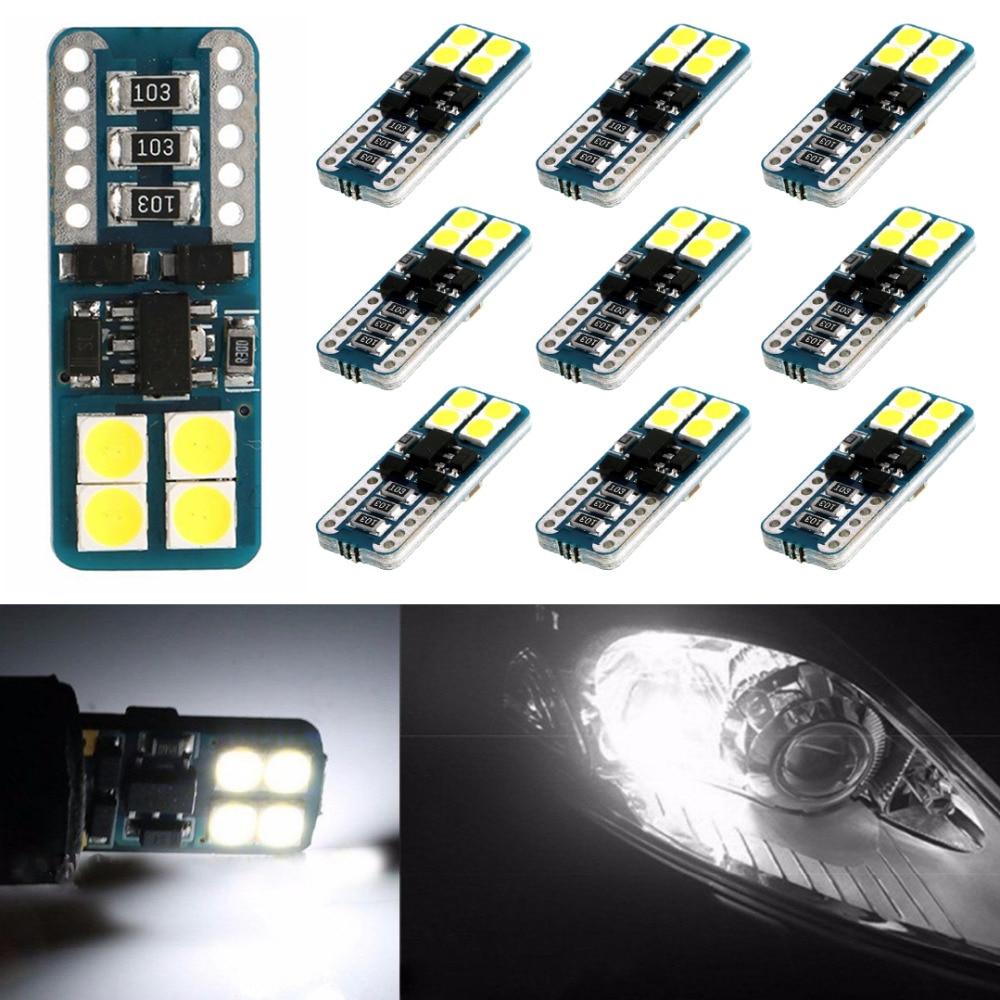 10 pçs luz de leitura do carro cob branco festão interior luz cúpula lâmpada 12led dc 12v acessórios do carro ghmy