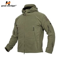 outdoor winter thick soft shell military fleece jackets men hooded windproof tactical outerwear coat warm hiking jacket clothe