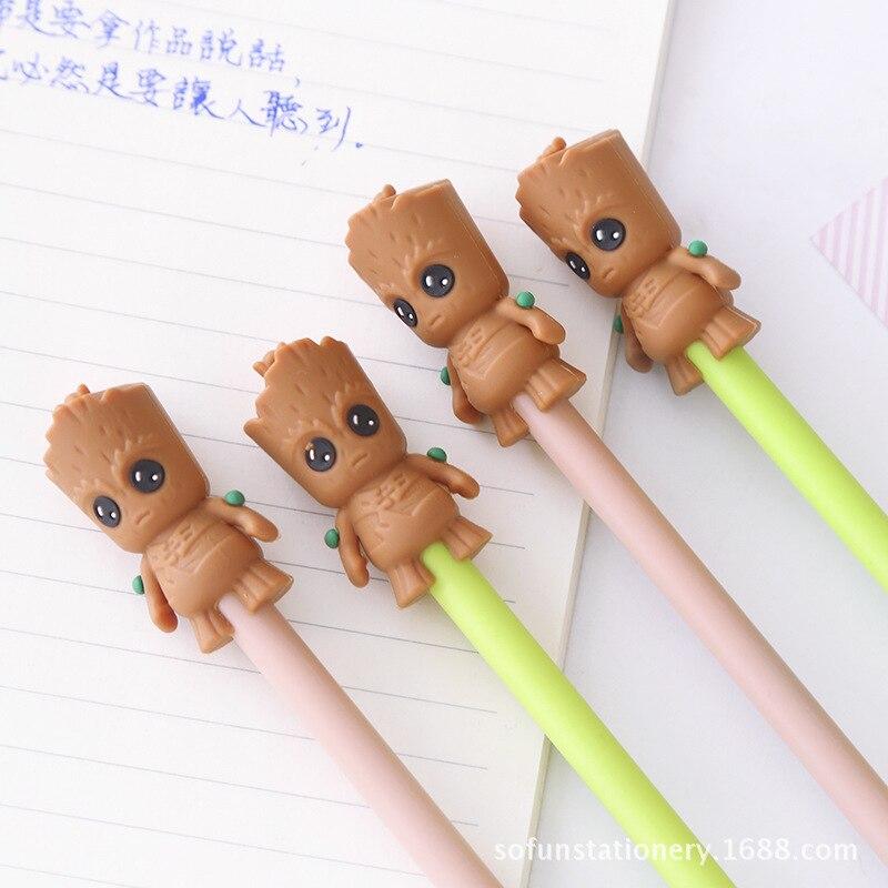 1 pièces stylos Gel dessin animé petits bruns noir coloré stylos à encre gel pour écrire mignon papeterie fournitures scolaires de bureau